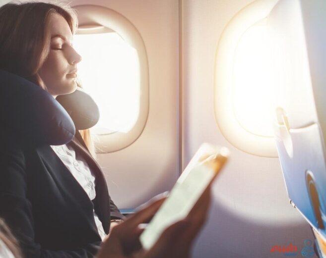 النوم على متن الطائرة