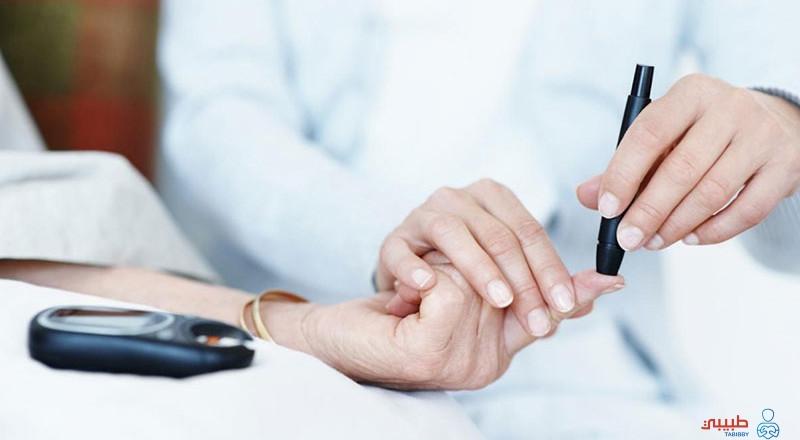 التشخيص لاختبار السكر العشوائي